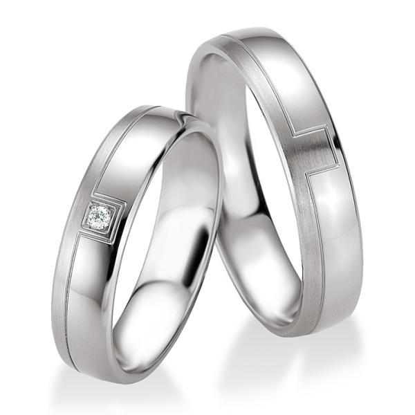 Trauringe Silber 925 Partnerringe 48/08089 & 48/08090