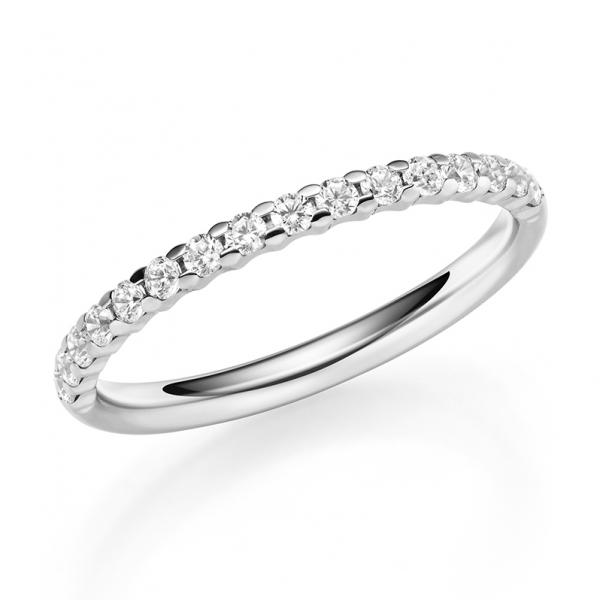 1060-26 Memoire Ring Weißgold Brillant halb ausgefasst