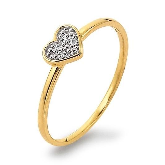 Ring mit Herz Gelbgold 585 Brillant K11238G Herzring Herzchen