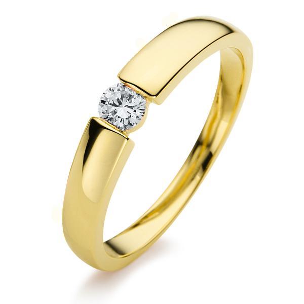 Ring 14 kt Gelbgold, poliert - 1A396G454-6