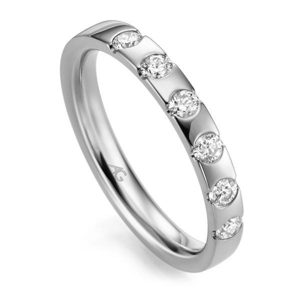 Memoire Ring Weißgold 585 Brillant GE 29761/3.1