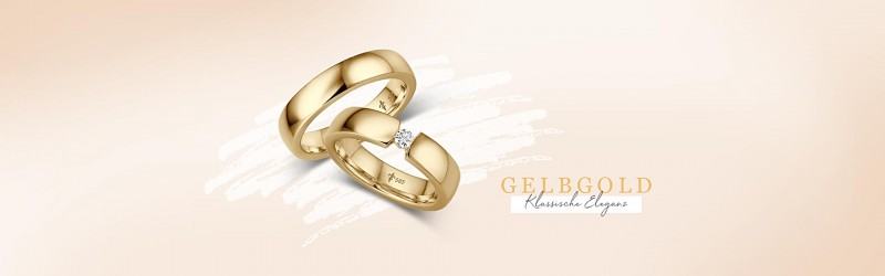Trauringe und Eheringe aus Gelbgold