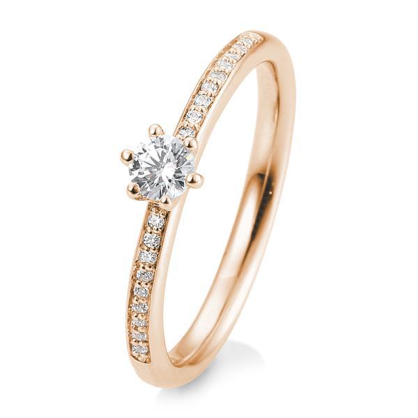 Verlobungsring Rotgold Brillant 6er Krappe Verschnitt 41/05805