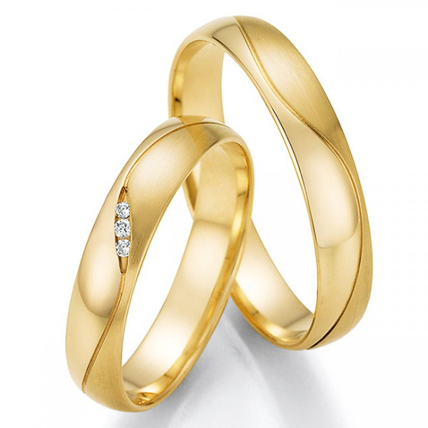 Trauringe Eheringe Gelbgold Brillant 66/61010 & 66/61020