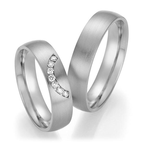 Trauringe Palladium mit mehreren Diamanten TRS66RU60110Pd