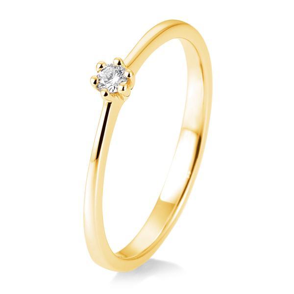 Solitärring Gelbgold 41/85770 - Diamantring