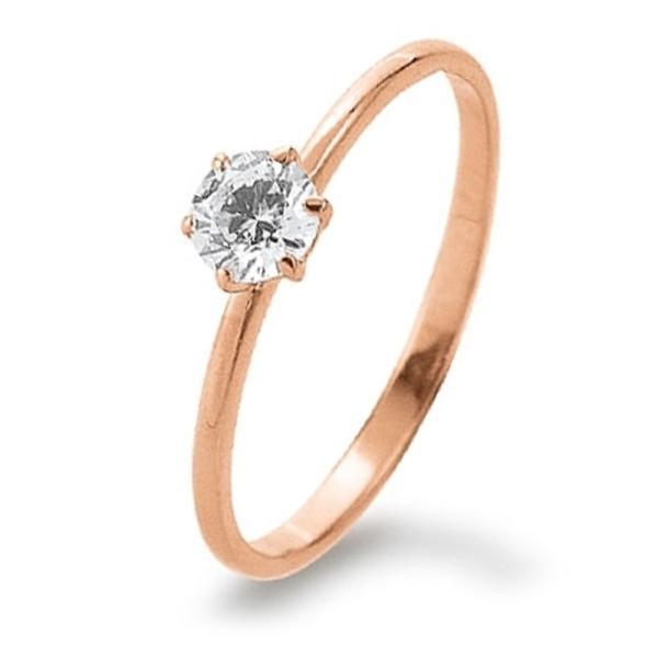Ring Rotgold 585 Zirkonia