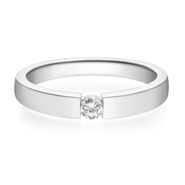 Verlobungsring 18012 Weißgold Solitär Ring
