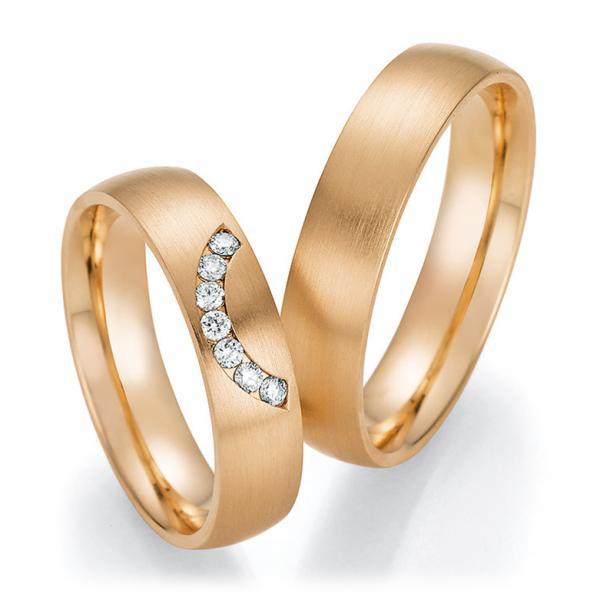 Trauringe Roségold mit mehreren Diamanten TRS66RU60110RS