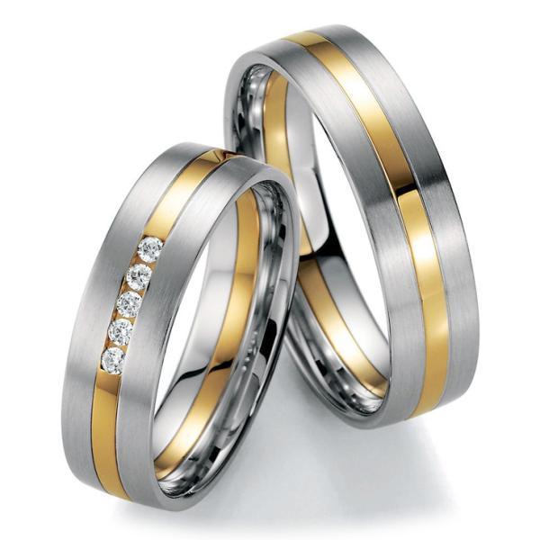 Trauringe Gelbgold & Weißgold 66/20590 & 66/20600