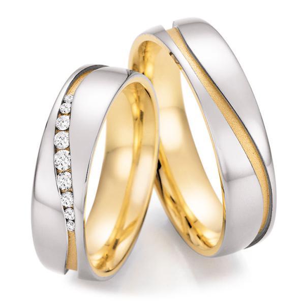 Trauringe Bicolor Honeymoon 66/42150 & 66/42160 Weißgold Gelbgold