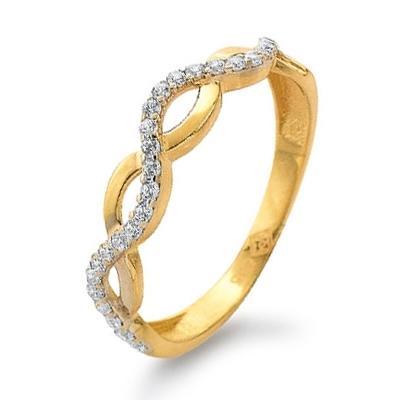 Ring Gelbgold 585 Augenblicke Zirkonia Palido K11186G