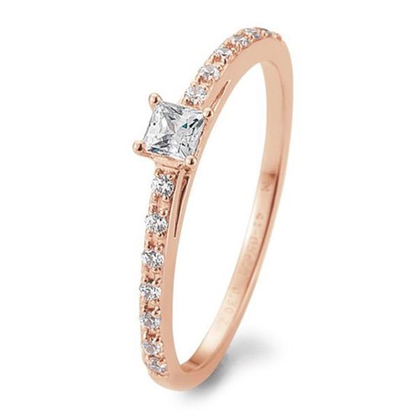 Verlobungsring Antragsring Rotgold Princess Brillant TRS05BR671R
