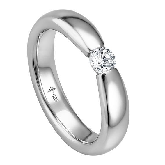 Solitär Ring / Verlobungsring Weißgold TRS00GI020SIW585