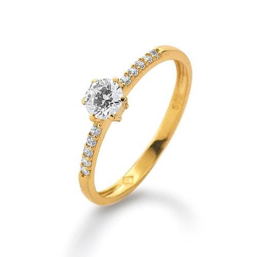 Ring Gelbgold 585 Zirkonia K11257G