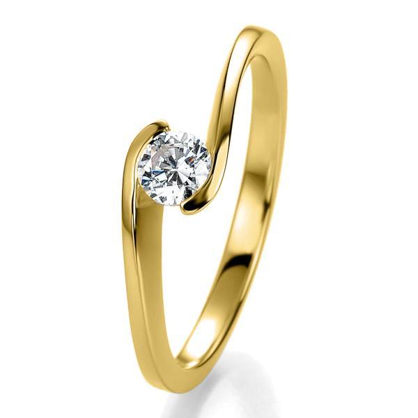 Bridal Antragsring Gelbgold 41/53110