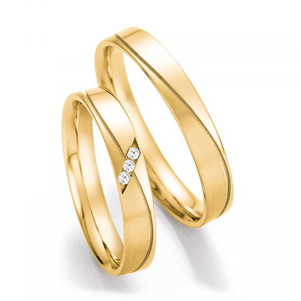Trauringe Gelbgold Gold Brillant TRS66RU41010G