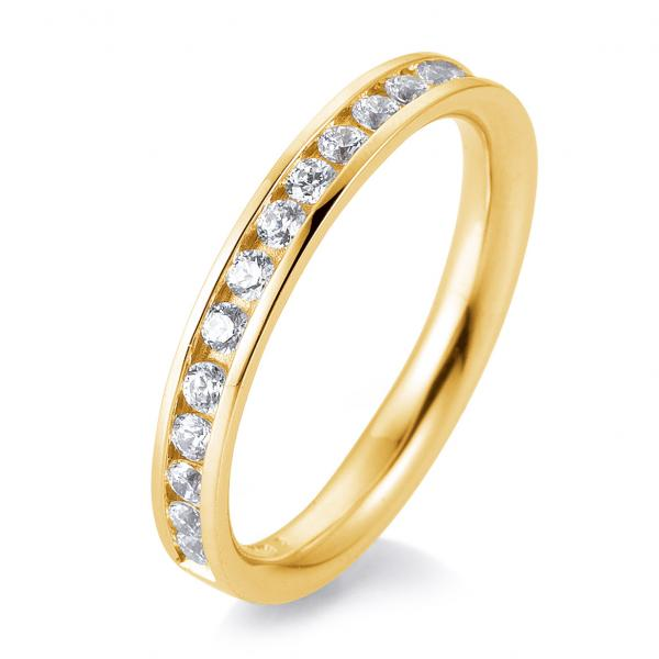 Alliance-Ring Eternity-Ring Gelbgold TRS05BR660G - Diamantkranz