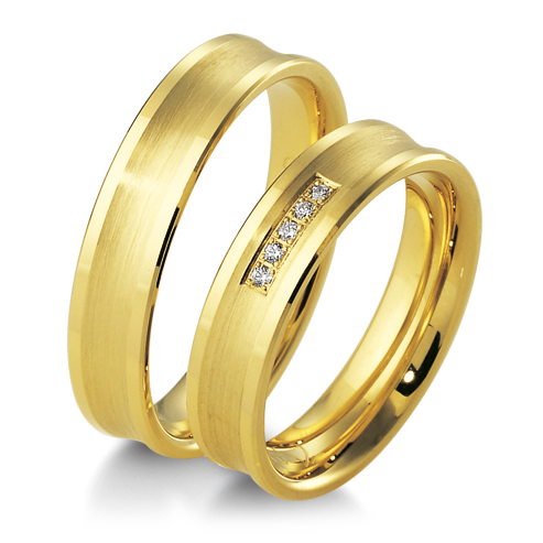 Trauringe Gelbgold Inspiration BR 48/04111 & 48/04112 Hohlkehle