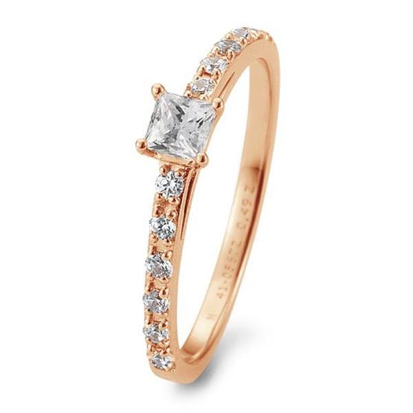 Verlobungsring Antragsring Rotgold Princess Brillant TRS05BR672R