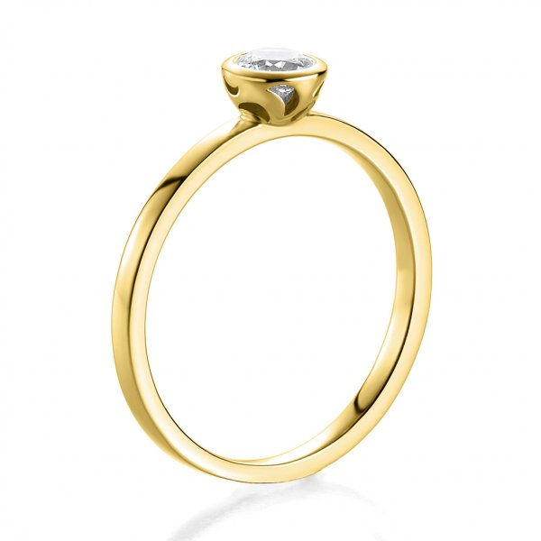 Bridal Antragsring Gelbgold mit Zirkonia 41/05292