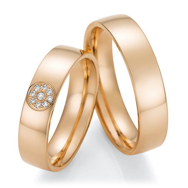 Trauringe Roségold mit mehreren Diamanten TRS66RU60050RS
