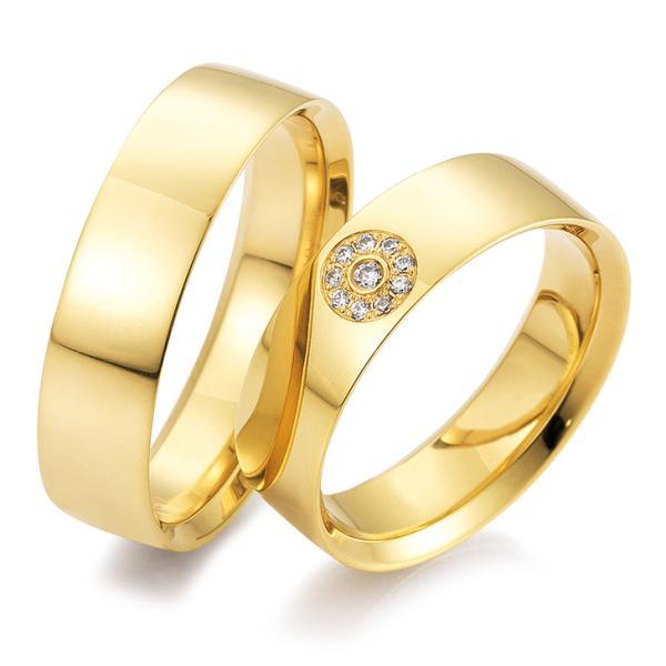 Trauringe Gelbgold Joy 48/04529 & 48/04530 Eheringe