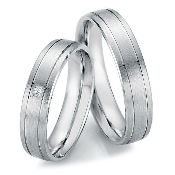 Trauringe Partnerringe Silber 925 55/20010 & 55/20020 Eheringe