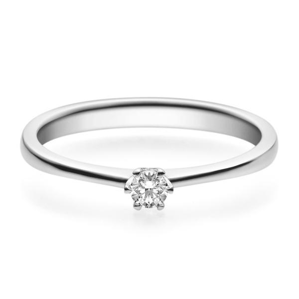 Verlobungsring 18016 Platin 950 Solitär Ring 0,100 ct.