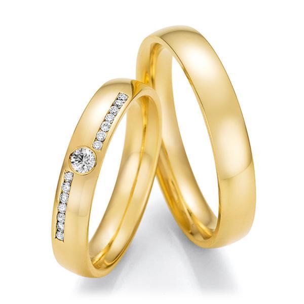 Trauringe Gelbgold mit mehreren Diamanten TRS66RU60070G