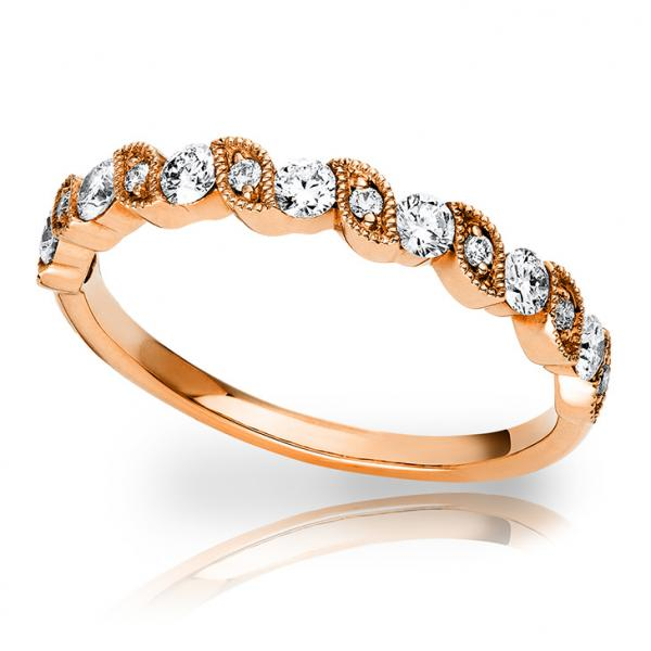 Verlobungsring Rotgold 750 Brillant