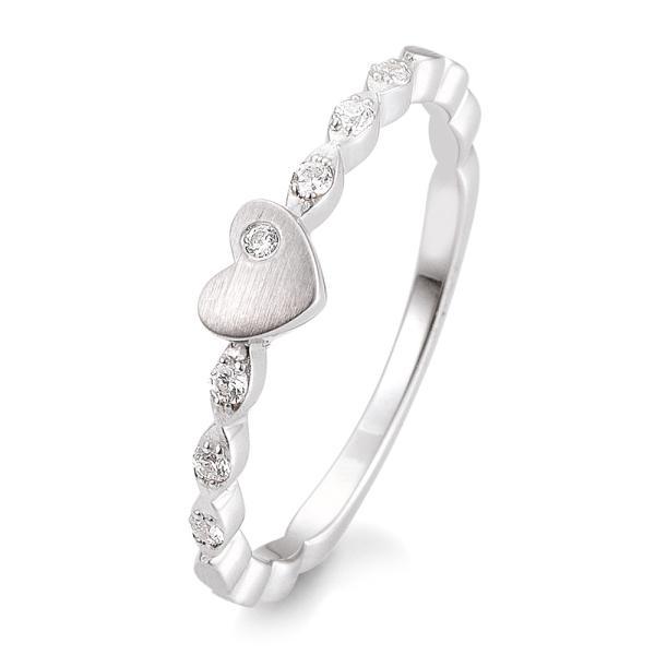 Vorsteckring / Verlobungsring Weißgold Silber Herz Brillant TRS05BR709W