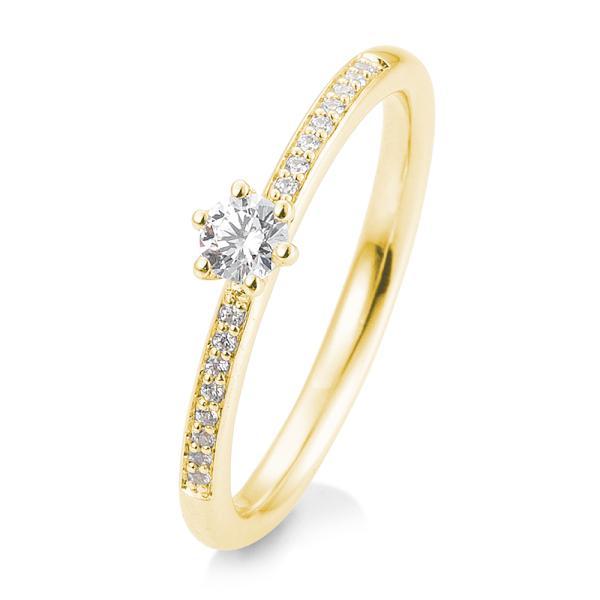 Verlobungsring Gelbgold 585 Brillant 6er Krappe Verschnitt 41/05804