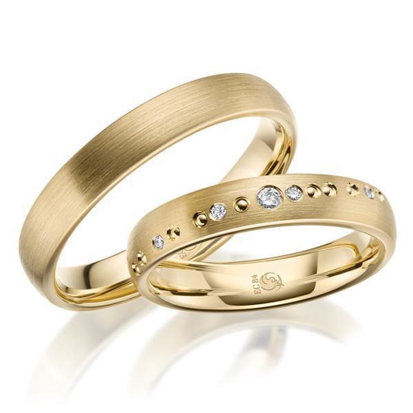 Eheringe Trauringe RU-1632-1 Gelbgold Gold