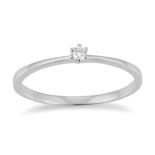 First Love Solitär Ring Weißgold 585 Brillant K10489W
