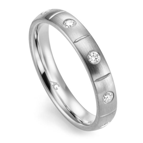 Memoire Ring Weißgold 585 Brillant Gerstner 29760/3.7