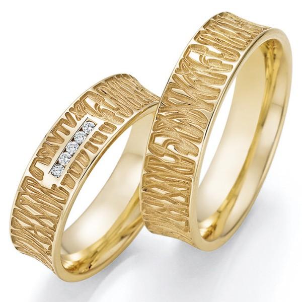 Trauringe Gelbgold Brillant 66/63090 & 66/63100