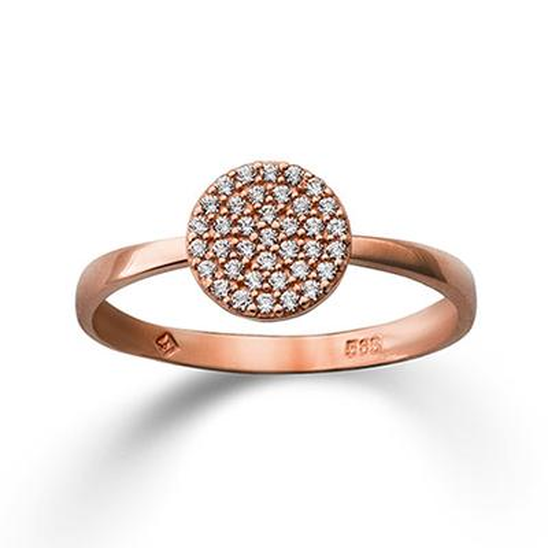 Ring Rotgold 585 Zirkonia Palido K11633R