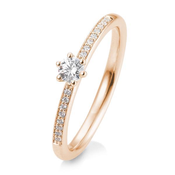 Verlobungsring Rotgold 585 Brillant 6er Krappe Verschnitt 41/05804