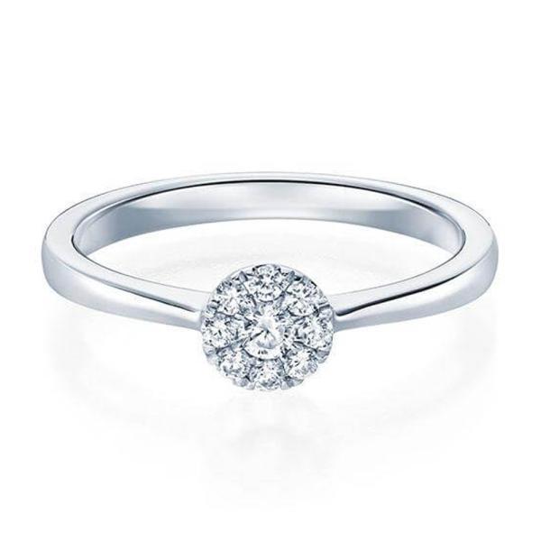 Ring 1593 Verlobungsring Weißgold 0,150 ct.