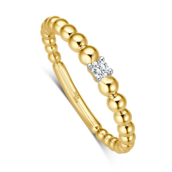 Kügelchen Ring Pallina Gelbgold EH4503
