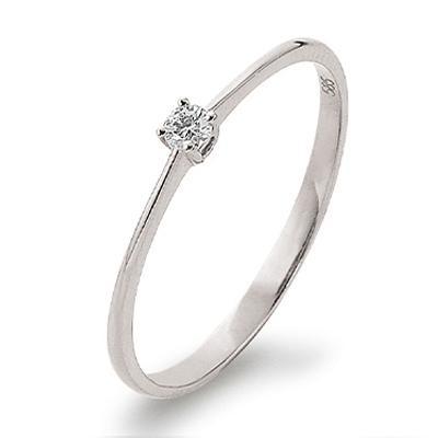 First Love Ring Weißgold 585 Brillant Solitär K11019W