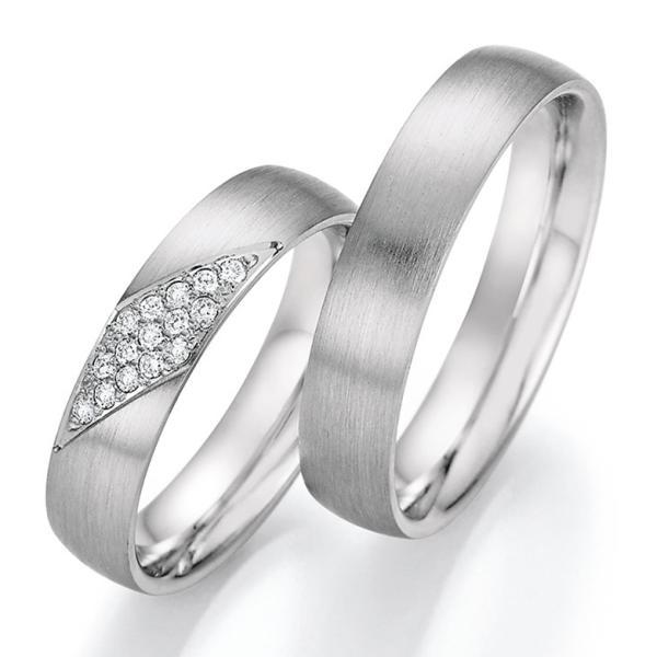 Trauringe Platin mit mehreren Diamanten TRS66RU60030Pt