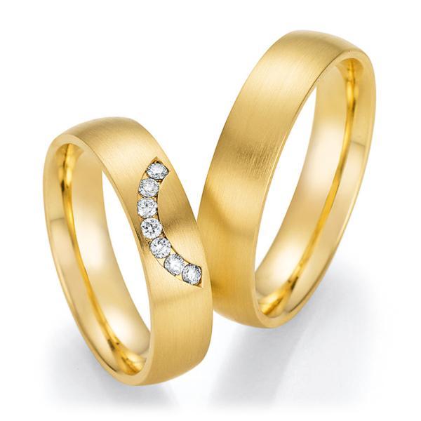 Trauringe Gelbgold mit mehreren Diamanten TRS66RU60110G