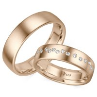 Trauringe TR-0-00028 & TR-1-00028 Blanche Roségold