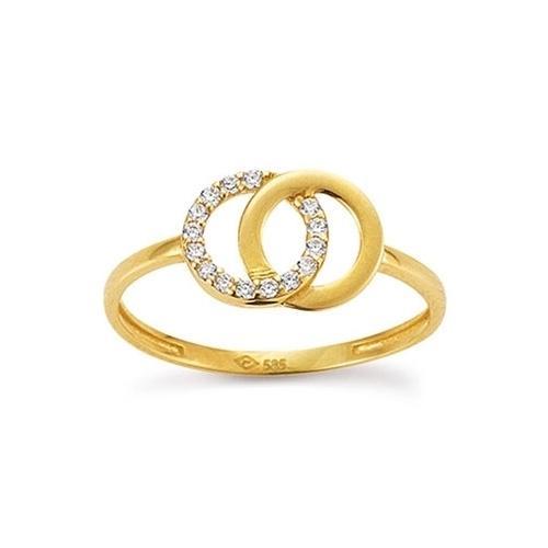 Ring Gelbgold 585 Zirkonia PDO K10936G