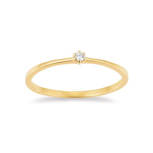 First Love Ring Gelbgold Brillant Krappenfassung K10488W
