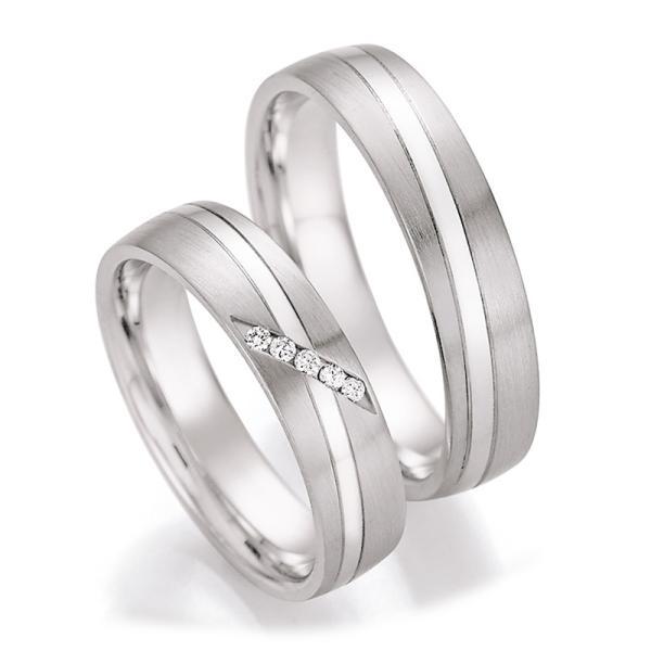 Trauringe Silber 925 55/30030 & 55/30040